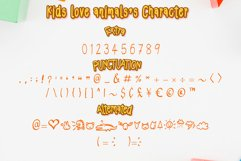 Kids Love Animals - Child font with doodle glyphs Product Image 3