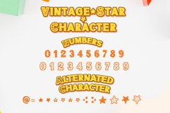 Vintage Star - Classic Display font with doodle glyphs Product Image 2