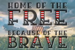 Sweet Liberty - An All-Caps Patriotic Font Duo Product Image 4