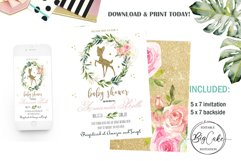 Bambi Baby Shower Invites Deer Baby Shower Invitations Fores Product Image 1