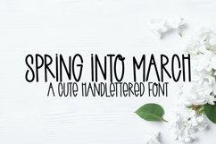 Web Font Spring Into March - A Quirky Handlettered Font Product Image 1
