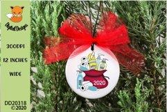 2020 Christmas Survival Kit Santa Sack Sublimation Design Product Image 1
