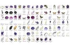 Gothic Gold Floral Clipart Product Image 3