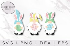 Easter Gnomes SVG, Bunny Gnomes SVG, Cricut Cut Files Product Image 1