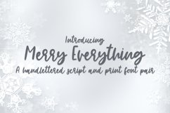Merry Everything - A Handlettered Font Pair Product Image 1