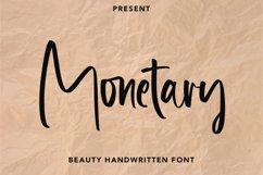 Monetary - Handwritten Script Font Product Image 1