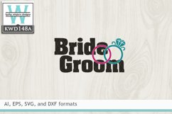 Wedding SVG - Bride and Groom Product Image 2