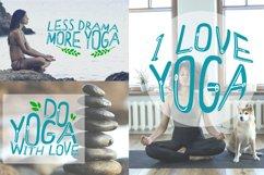 Yoga with girl - set of illustrations with asana Product Image 4