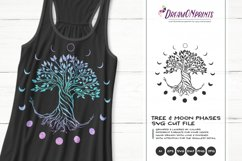 Tree SVG | Moon Phases SVG Product Image 1