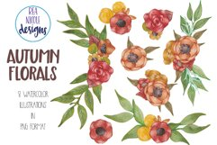 Autumn Florals Clip Art Product Image 3