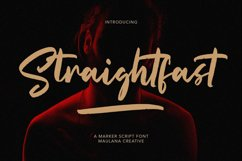 Straightfast Marker Script Font Product Image 1