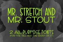 Mr. Stretch & Mr. Stout Font Duo Product Image 1
