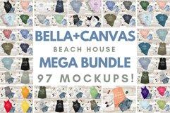 Bella Canvas TShirt Mockup Bundle Beach House Summer Style Product Image 1