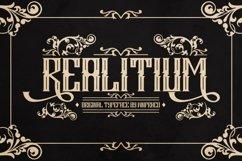 Web Font Realitium Font Product Image 1