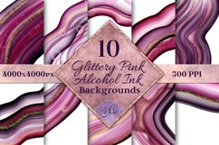 Glittery Pink Alcohol Ink Backgrounds - 10 Image Set Product Image 1
