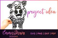 IGGY THE PIGGY SVG MANDALA / ZENTANGLE DESIGN Product Image 3
