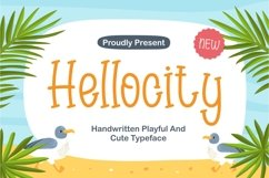 Hellocity - Handwritten Playful and Cute Typeface Product Image 1