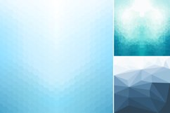 Blue abstract geometric backgrounds. Product Image 5