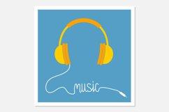 Yellow headphones Music cord Product Image 1