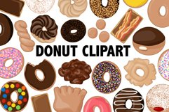 Donut Clipart - 30 images Product Image 1