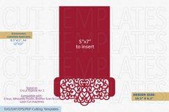Wedding Pocket Envelope for 5x7 invitation svg dxf laser cut Product Image 3