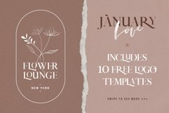 January Love Font Duo With 10 Logos & More Extras Product Image 6