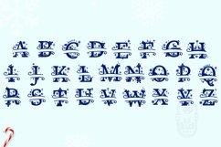 Christmas Monogram Alphabet - Christmas Split Letters Product Image 5