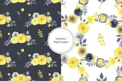 Watercolor yellow & gray roses Product Image 4