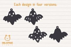 Cute Halloween Ghosts Earrings Set svg, Fun Halloween Earrin Product Image 5