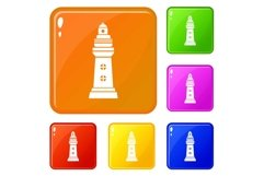 Navigation icons set vector color Product Image 1