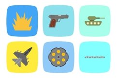 Set Of Military and Army Icons Product Image 1