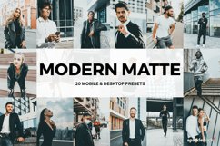 20 Modern Matte Lightroom Presets and LUTs Product Image 1