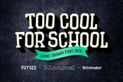 Too Cool for School Font Trio Product Image 1