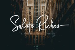 Salute Riches - Handwritten Font Product Image 1