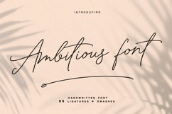 Ambitious - handwritten font Product Image 1