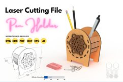 Pen Holder - laser cutting file Product Image 1