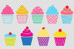 Cupcakes SVG/ DXF cutting files Product Image 2