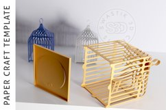 Papercraft Bird Cage / Paper Lamp /DXF Files For laser cut Product Image 4