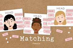 Our Body Parts Educational Matching and Tracing Worksheets Product Image 2