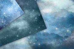 Cloudy Nights Watercolor Sky Backgrounds Product Image 3