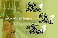 Lady Writer Casual Script Font Product Image 2