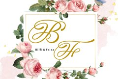 Hand Lettered Effect Monogram Product Image 3