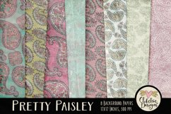 Paisley Background Textures - Shabby Pretty Paisley Papers Product Image 1