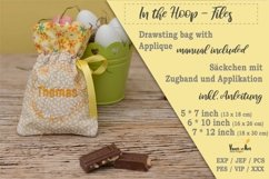 ITH -Drawstring Bag with Chick Motif - Embroidery File Product Image 3