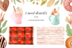 Watercolor Autumn Clipart Collection. Cozy patterns Product Image 5