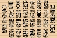 Wine Bag SVG Bundle, Christmas Wine SVG files for Cricut Product Image 2