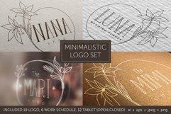 Minimalistic logo set. Logo templates. Schedule. Product Image 1