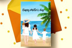 Family clipart Mother's day clipart Summer Mug design Png Product Image 3
