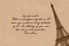 Handwritten pen and ink font. Yours Tina Product Image 2