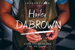 Hasley Dabrown Dual line Handbrush Font Product Image 1